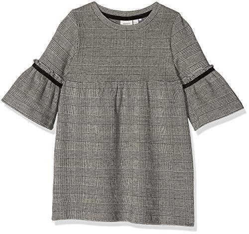 Name It Nmfsabon Ls SWE Dress Unb Robe, Noir (Schwarz Black), 98 Bébé Fille