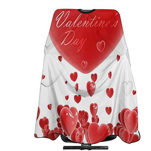Salon Cape Carino San Valentino achtergrond, schort, tondeuse, polyester