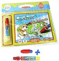 Rangebow No Mess Aqua Water Doodle Magic Travel Game Plane Activities Drawing Writing Book and 2 Magic Water Aqua Pens...