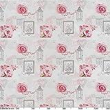 ANRO Wachstuchtischdecke Wachstuch Wachstischdecke Tischdecke abwaschbar Rosen Landhaus Antik Grau 160 x 140cm - 4