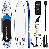 COSTWAY Tabla Inflable de Paddle, Tabla Sup Extra Amplia con Control Surf,...