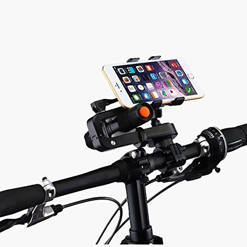 Fiets Telefoon Houder, Multi-functie Universele Mobiele Telefoon Fietshouder 360 Draaibare Zaklamp Beugel voor IPhone 7/7+/6/6+/6S/6S+/5S/5C, Samsung Galaxy S3/S4/S5/S6/S7/S8 Opmerking 3/4/5,Nexus,HTC,LG & GPS-apparaten GPS Andere apparaten