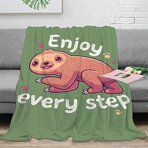 Lindas mantas motivacionales perezosas para cama, sofá, silla, sala de estar, oficina, viajes, picnic, regalo de 100 x 130 cm