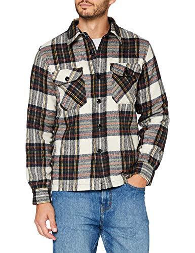 Schott NYC Herren Shcarl1 Hemd, Beige Kontrollen, M