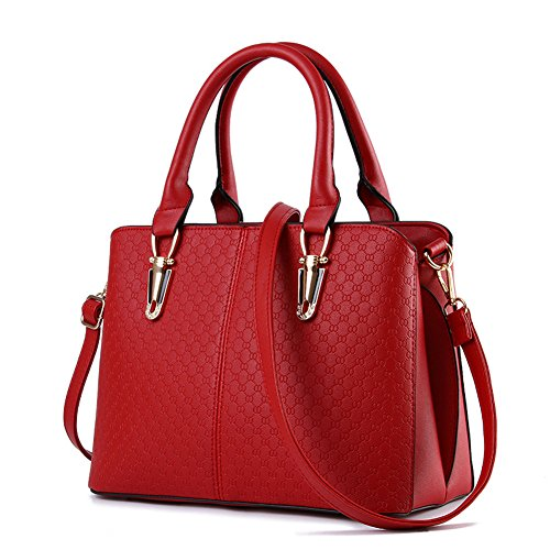 JHVYF Women Claissic Top Handle Handbag Crossbody Casual Purse Satchel Tote Size: M