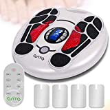 Foot Circulation Stimulator ,Electrical Foot Massager Machine Muscles Stimulation, Medic Electric Pulse Foot Circulation Plus, 4 TENS Unit Pad for Therapy Devices to Relieve Pain
