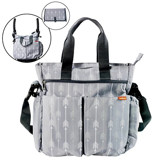 Diaper Bag for Baby By Zohzo - Diaper Tote Bag With Changing Pad, Insulated...