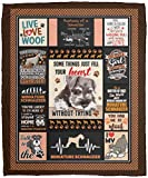 Some Things Just Fill Your Heart Without Trying Miniature Schnauzer Dog Fleece Blanket - Premium Sherpa Blanket, One Size, Cozy Plush Fleece Blanket - 50x60 / White