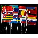 Everflag 50 verschiedene Länder-Papierfähnchen im Set - bunt gemischt