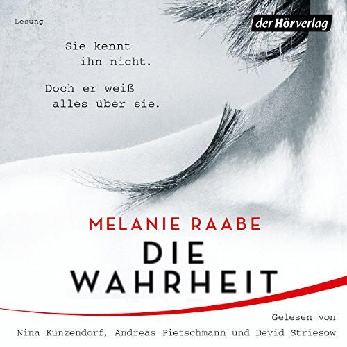 Die Wahrheit                   By:                                                                                                                                 Melanie Raabe                               Narrated by:                                                                                                                                 Nina Kunzendorf,                                                                                        Andreas Pietschmann,                                                                                        Devid Striesow                      Length: 8 hrs and 3 mins     Not rated yet     Overall 0.0