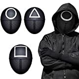 Cosplay Squid Game Man Mask 2021 TV Squid Game Hombre Enmascarado Realidad Supervivencia Cosplay Mascarada Accesorios Accesorios De Halloween,B
