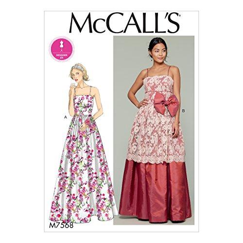 Mccall's Patronen Misses' Fitted-Bodice/Spaghetti-Strap Jurken, Tissue Multi-Colour, 17 x 0.5 x 0.07 cm