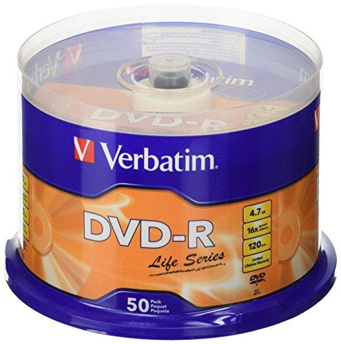 Vebatim DVD Recordable Spindle 4.7 GB (Pack of 50) (97176)