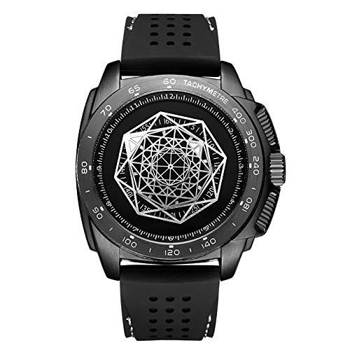 Herenhorloge eenvoudige en elegante quartz horloge, Waterdicht, siliconen band Stijlvolle Simple Black Herenhorloge,Black