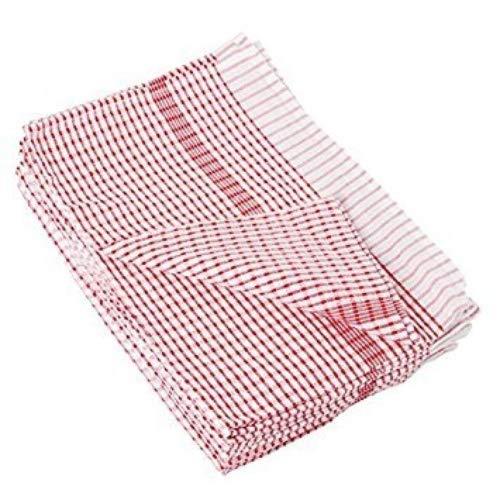 NextDay Cufflinks Catering CC595 Wonderdry theedoeken, 95% katoen en 5% polyester, rood (10 stuks)
