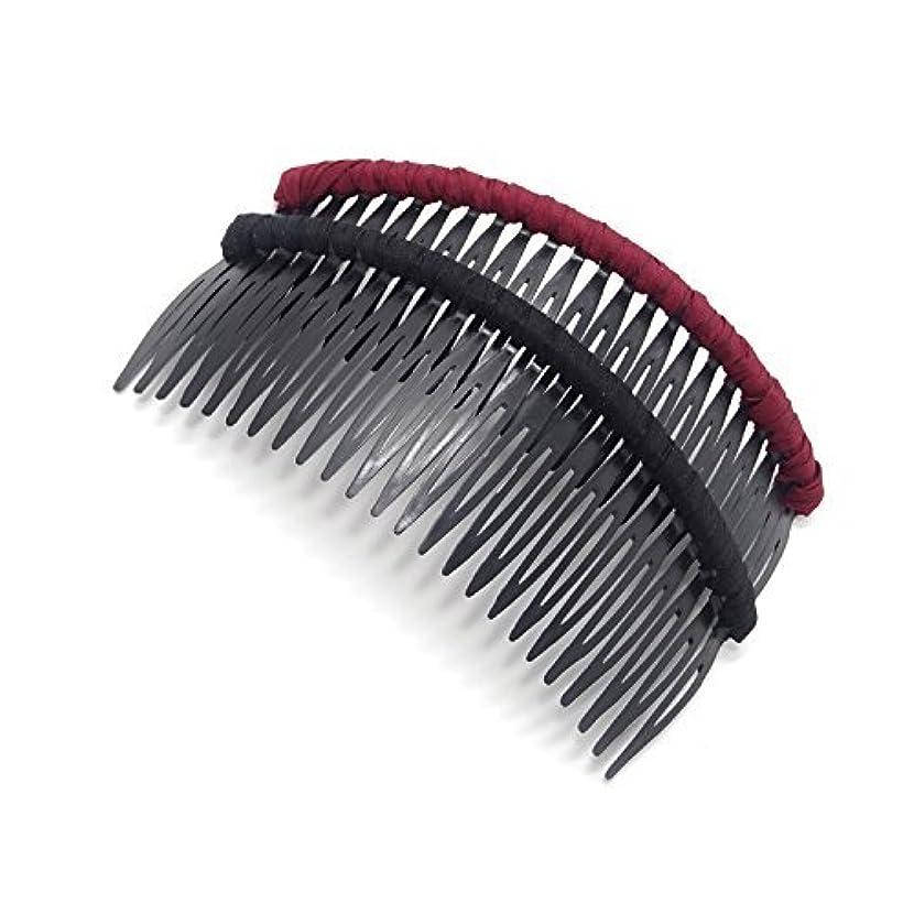 オンス気づく確保するHonbay 2 PCS Different Color 24 Teeth Plastic Hair Comb Tuck Comb Hair Clip Hair Accessory for Women and Girls (pure color) [並行輸入品]