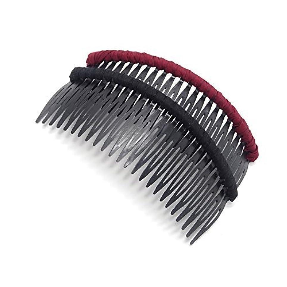 隠すお手伝いさん流用するHonbay 2 PCS Different Color 24 Teeth Plastic Hair Comb Tuck Comb Hair Clip Hair Accessory for Women and Girls (pure color) [並行輸入品]