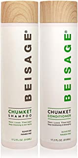 Beisage Chumket Anti-Thinning, Anti-Hair Loss, Hair Growth Shampoo & Conditioner SET from Chumket Medical Plant, Sulfate & Paraben Free, Anti-Itchy Flaky Scalp, All Hair Types, Men & Women 17.2 Fl Oz.