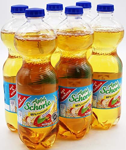 Gut und Günstig Apfelschorle, 6er Pack (6 x 0.5 l) EINWEG