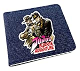 Billetera Cartera Anime JoJo's Bizarre Adventure Wallet Carteras De Cosplay School Students Money Bag Titular De La Tarjeta Bifold Monedero para