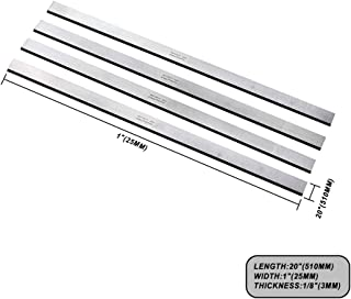 """OSCARBIDE 20 Inch Planer Blades Knives for Jet 208,Powermatic 209,Grizzly G6702 G0454W planer,20 x 1x 1/8"""" 4pcs/set"""