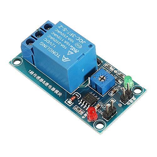 Relais-Schild-Modul Control Board, Blattfeuchtigkeit Wasserloser Schalter Regensensor for Arduino 12V Regentropfen Controller Relaismodul Relaismodul Computer Control Switch-Modul