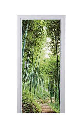 MELINERA® Tür Dekofolie (Motiv: Bambus 2) 97,5 x 204 cm