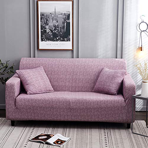 Jodimitty Fundas Sofá Elasticas Extraíbles y Lavables Moderna Cubre Sofa Universal Tejido de Poliester Fundas Protectoras para Sofas contra Polvo,Manchas(A-Lila,3 Plazas)