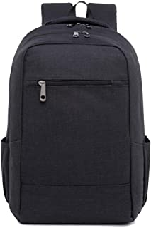 CHENDX Handbags Men and Women Advanced Computer Bag Outdoor Leisure Travel Large Capacity Backpack Simple Solid Color Student Bag (Color : Black, Size : 42cm*28cm*12cm)