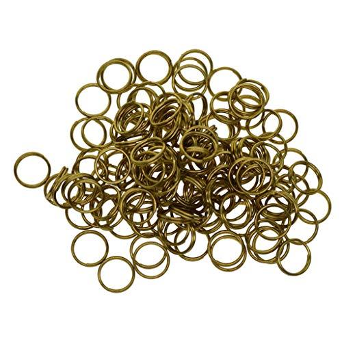 Hellery 50x Split Messingringe Kleine Schlüsselringe Großer Schlüsselbund Ringe Für Schlüssel 12mm