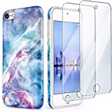 iPod Touch 7th Generation Case with 2 Screen Protectors, IDWELL iPod Touch 6 iPod 5 Case, Slim FIT Anti-Scratch Flexible Soft TPU Bumper Protective Case(Latest Model,2019 Release), Blue Fantasy Sky portable speakers i phone Jan, 2021