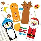 Baker Ross AT191 Lesezeichen Bastelset (6 Stück) Basteln Kinder zu Weihnachten, Sortiert