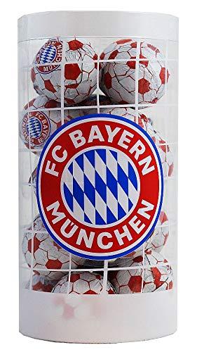 FC Bayern München - Bayern - Schokoladenfußbälle - Schokobälle-Dose (125 g) - Schoko - Fußball - Logo - Liga - Fanartikel - Schokobälle - Kugeln - (7,16 € / 100 g)