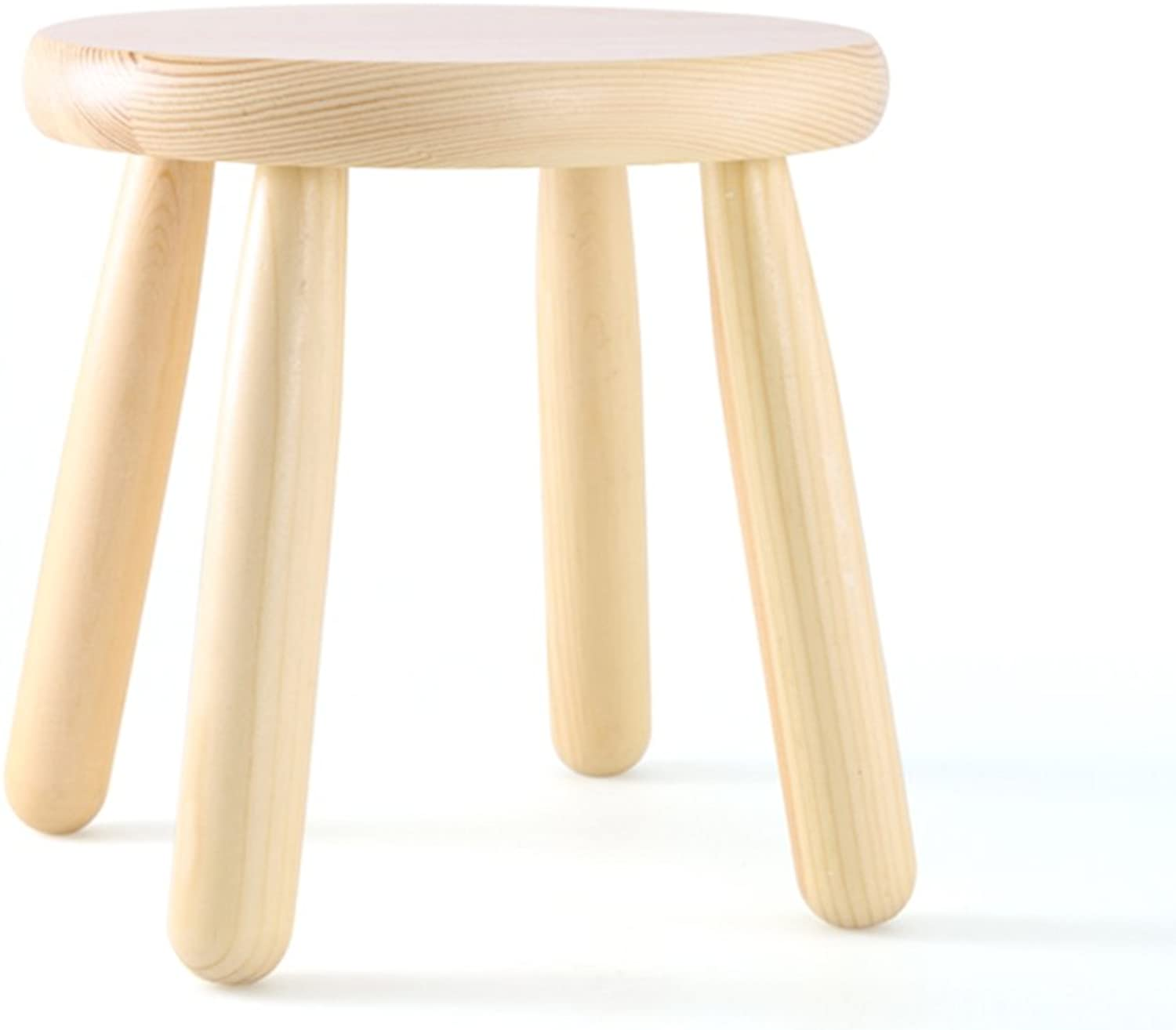 European Chair Solid Wood Stool, Change shoes Stool Practical Home Non-Slip sit Stool Low Stool Fashion Small Bench