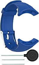 Serounder Replacement Strap, Silicone Rubber Women Lady Smart Watch Adjustable Replacement Bracelet Sport Wrist Bands for Suunto M1 M2 M4 M5(Blue)