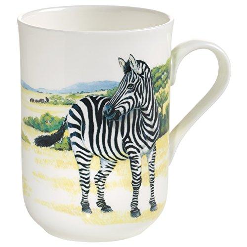 Maxwell & Williams Animals of The World Zebra, Geschenkbox, Porzellan, PBA0008 Becher, weiß, bunt, 10.5 x 7.5 x 10.5 cm