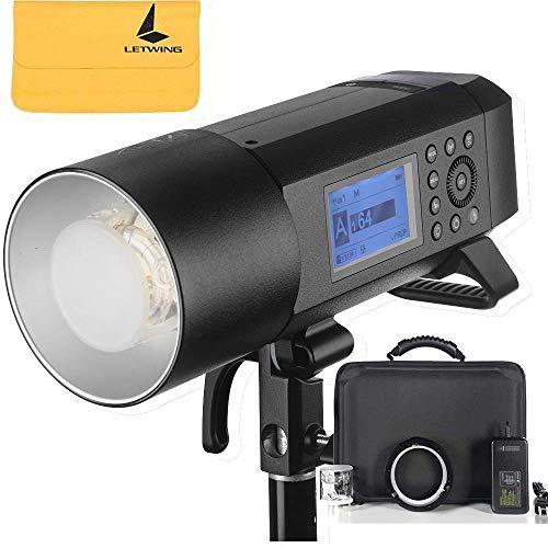 Godox AD400Pro 400Ws HSS TTL Selbst Blitz All-in-One Außen Blitzlicht 2.4G GN72 mit Li-Ion Akku 0.01~1s Recycle Zeit für Canon E-TTL II Nikon i-TTL Blitz Sony Fuji Olympus und Panasonic