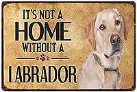ラブラドール犬の壁錫サイン金属ポスターレトロプラーク警告サインヴィンテージ鉄絵画の装飾オフィスの寝室のリビングルームクラブのための面白い吊り工芸品