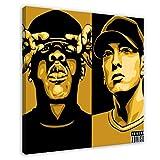 Jay-Z - Portada para álbum de DJ Hero Renegade Edition, póster de lienzo, decoración de dormitorio, deportes, paisaje, oficina, habitación, regalo, 60 x 60 cm, estilo marco 1