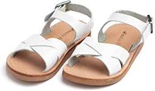 Saybrook Little Girl Boy Leather Sandals - Toddler/Little Kid Sizes 3-13 - Multiple Colors