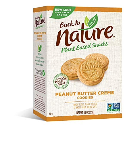 Back to Nature Cookies, Non-GMO Peanut Butter Creme, 9.6 Ounce (Packaging May Vary)