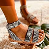 KovBexJa Sandalias De Cuña De Verano Sandalias De Plataforma con Punta Abierta De Moda para Mujer Sandalias De Talla Grande 2021 Sandalias De Plataforma para Mujer Negro