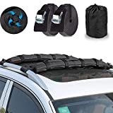 AUPERTO Automatic Inflatable Car Roof Rack Bars - 90X12X8CM Universal Soft Rooftop Cargo