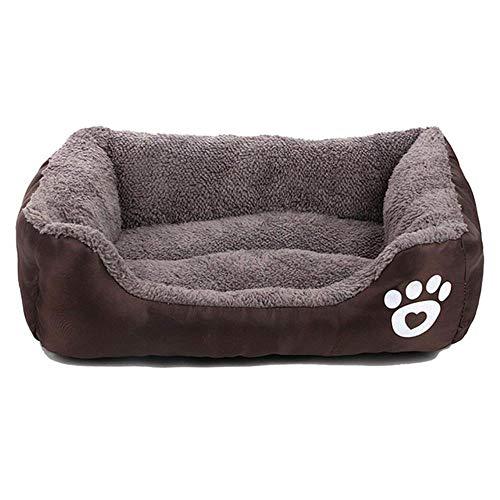 zhuangxiang Cama Gatos Perro Mascota Cama para Perros Calentador Casa para Perros Material Suave Nido para Mascotas Perro Otoño E Invierno Nido Cálido Perrera para Gato Cachorro, Café, L