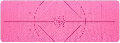 Anglayif Tapis de Yoga avec Sangle - Tapis de Yoga 6   8mm épais, antidérapant, léger, écologique, très Grand 72 X 24    72 X 31.5  pour Exercice de Fitness Yoga Pilates