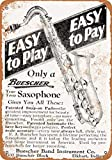 1928 Buescher Saxophones 20CMx30CM Vintage Tin Sign, Home, Bar, Cafe Wall Decoration Door Plaque Metal Sign...