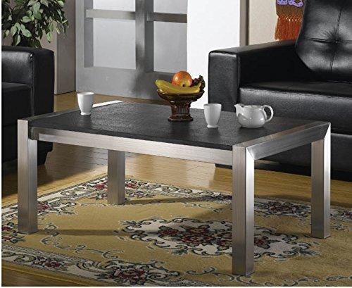 Edelstahltisch 100x80 cm Wohnzimmertisch mit Granitplatte (Gastronomie, Design-Edelstahltisch Wohnzimmer, Garten-Tisch Edelstahl)