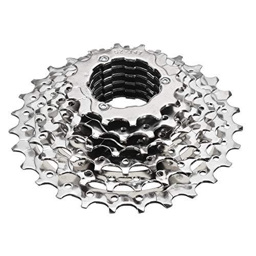 SXCXBH Cassetta Mountain Bike,Pacco Pignoni 10v Bike Cassette 7 velocità Ibrida Mountain Bike Ciclismo Posteriore a Ruota Libera Cog Cassette Parti di Biciclette Accessori in Argento (Color : White)
