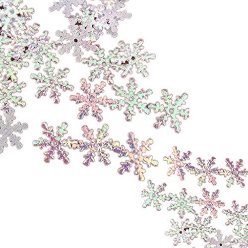 Fliyeong 300 piezas Navidad copo de nieve confeti decoración de mesa 3 cm nuevo lanzado