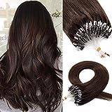 100 Mèches 50G Cheveux Pour Extension A Anneau Extension Pose A Froid Cheveux...